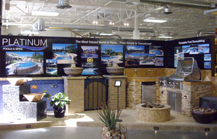 lcsaz also designed platinum pools spas elaborate display space in the scottsdale design studio showroom and pool display wall for the kb home design - Kb Homes Design Studio